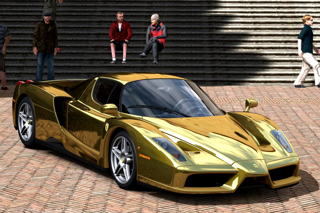 Ferrari Enzo Gold Chrome Gran Turismo 5 Adai Chang