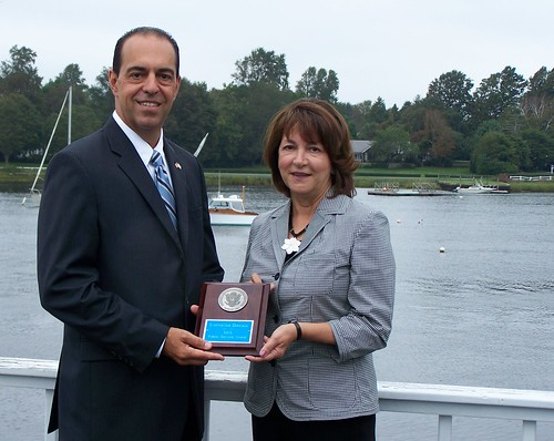 Lorraine Derois - Medallion Award | by Secretary of State A. Ralph Mollis