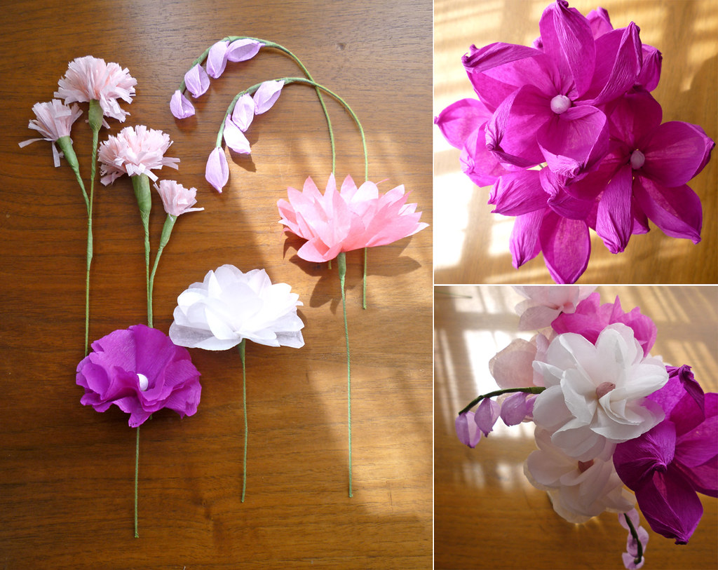 Flower Making With Tissue Paper Selol Ink
