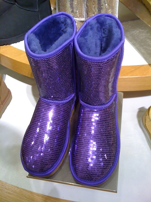 ... purple sequin UGG boots | by sjgr