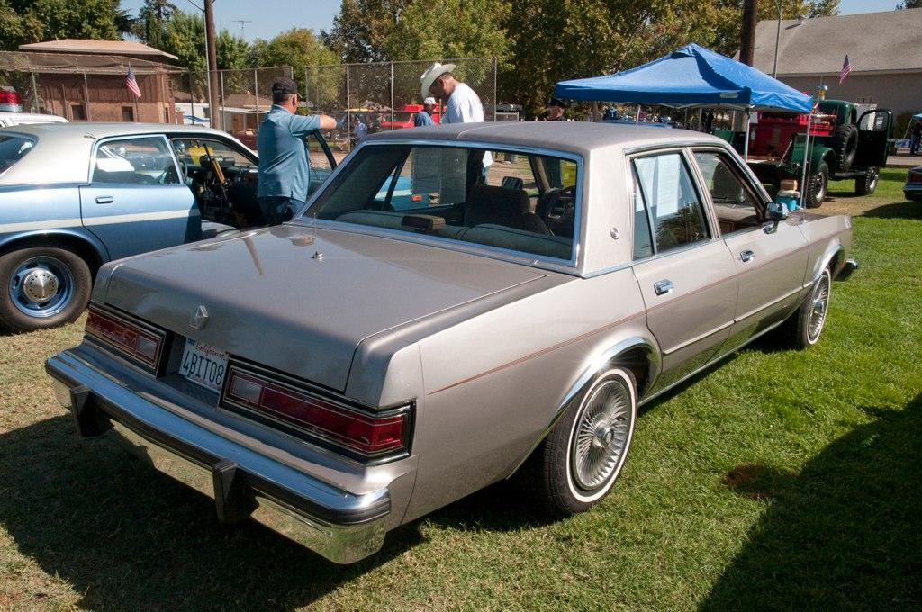 Fbi 1988 Dodge Diplomat Back