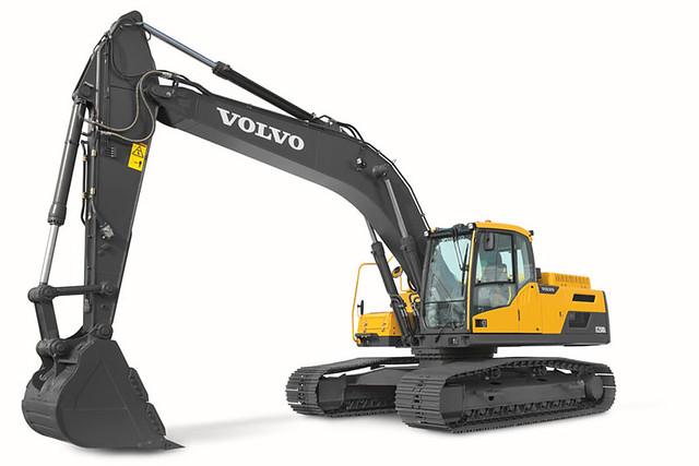 volvo ec250d excavator in studio flickr photo sharing