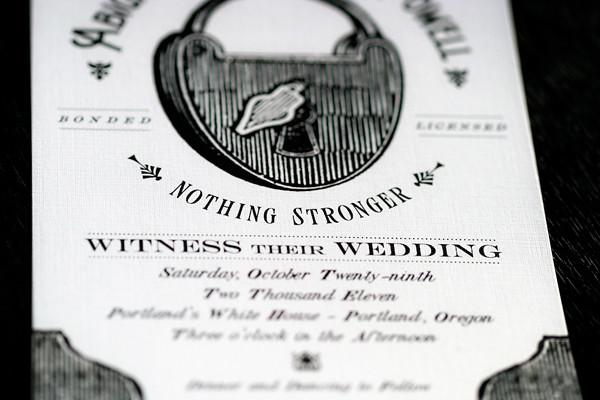 Wedding Invitation Sizes: Wedlock Wedding Invitation
