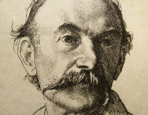 1893 Etching of Thomas Hardy by William Strang (Detail) | by Thomas Shahan 3