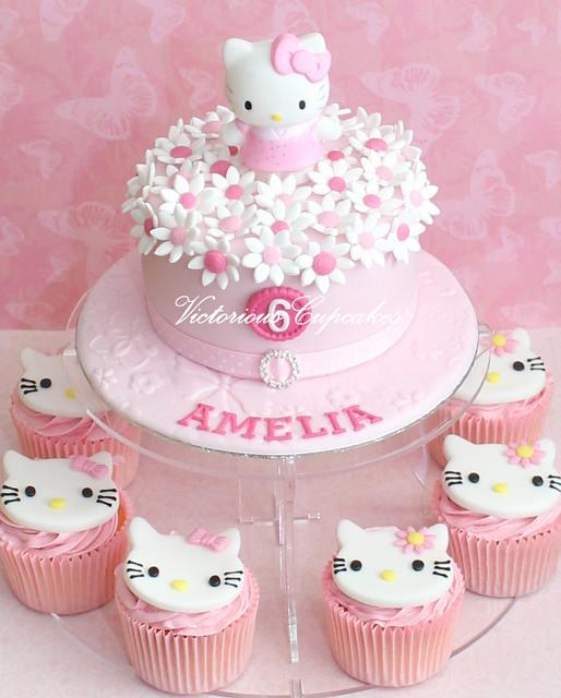 Cake Hello Kitty Birthday : Hello Kitty Birthday cake Explore Victorious Cupcakes ...