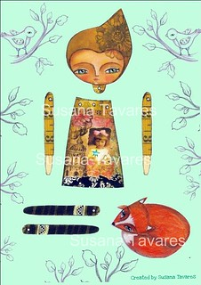 Paper doll and Fox set | by Susana Tavares