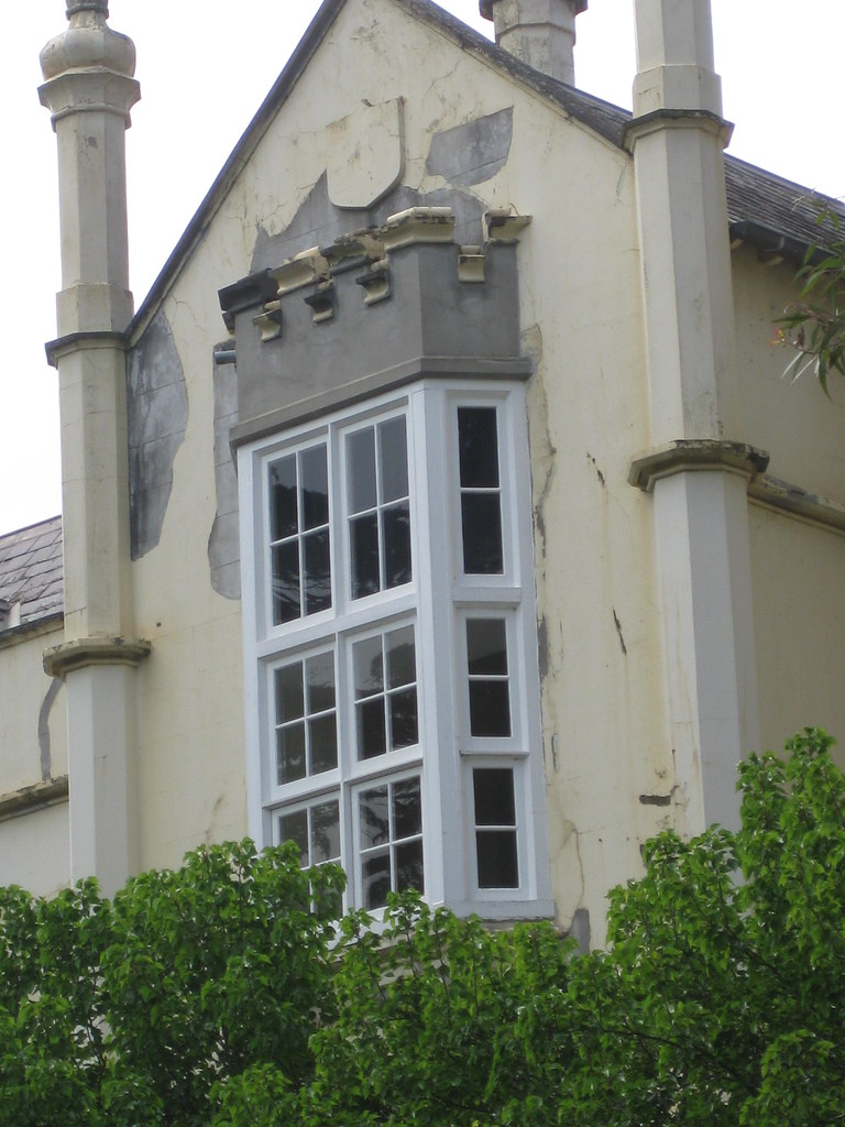 Bay Window Of Banyule Homestead A Flemish Gothic Revival Mansion
