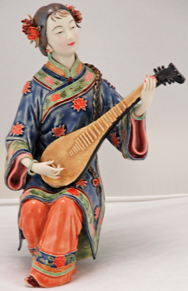 Bk0219y Porcelain Chinese Figurine Lady Porcelain Bisque