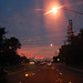 sunset on LRT