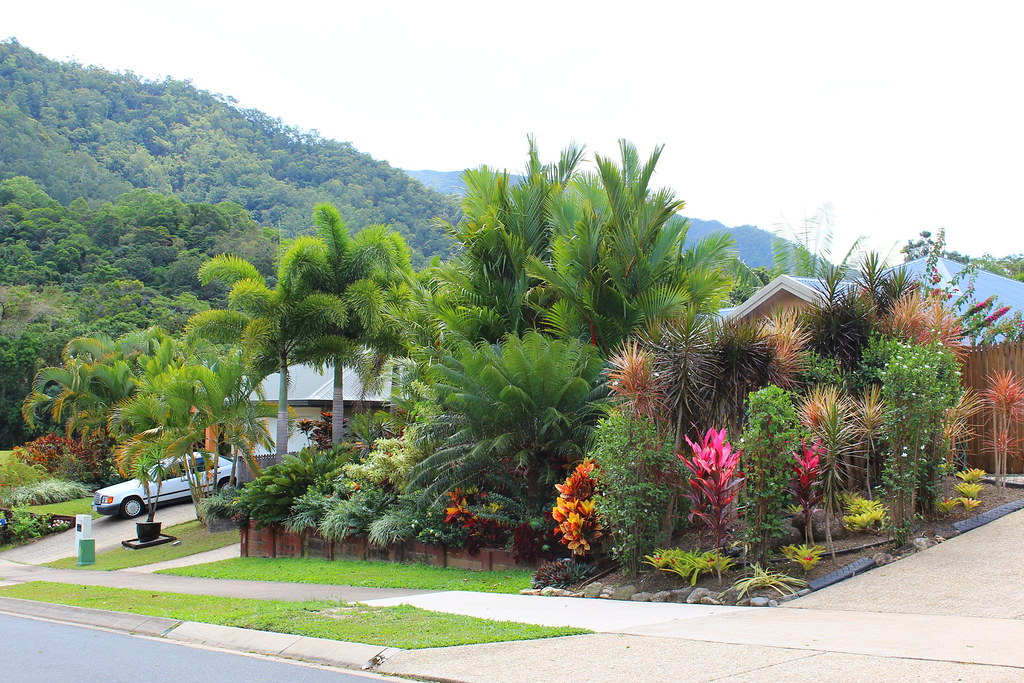 Suburban front garden redlynch valley cairns tanetahi for Queensland garden design