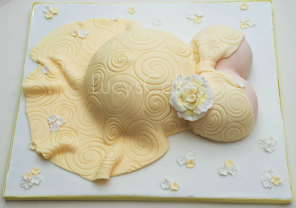 Yellow Pregnant Belly Baby Shower Cake Visit Me And Like