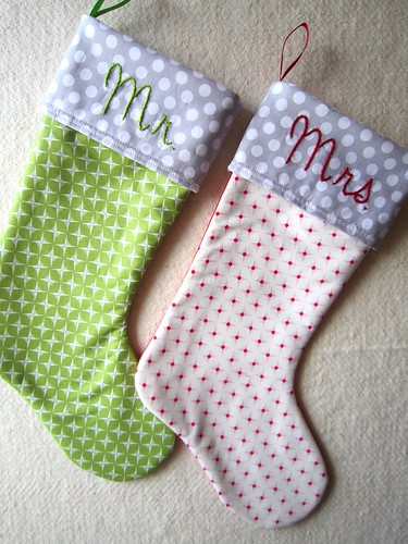 Christmas stockings | by Elena @ Hot Pink Stitches