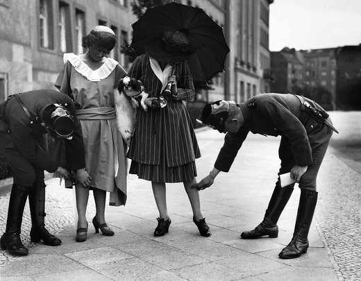 Police checking the length of dresses in 1920s berlin flickr for Fashion jobs berlin