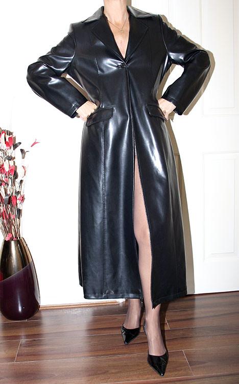 mature leather latex