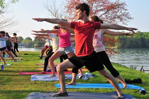 Yoga at the Lake | by DavidsonCollege