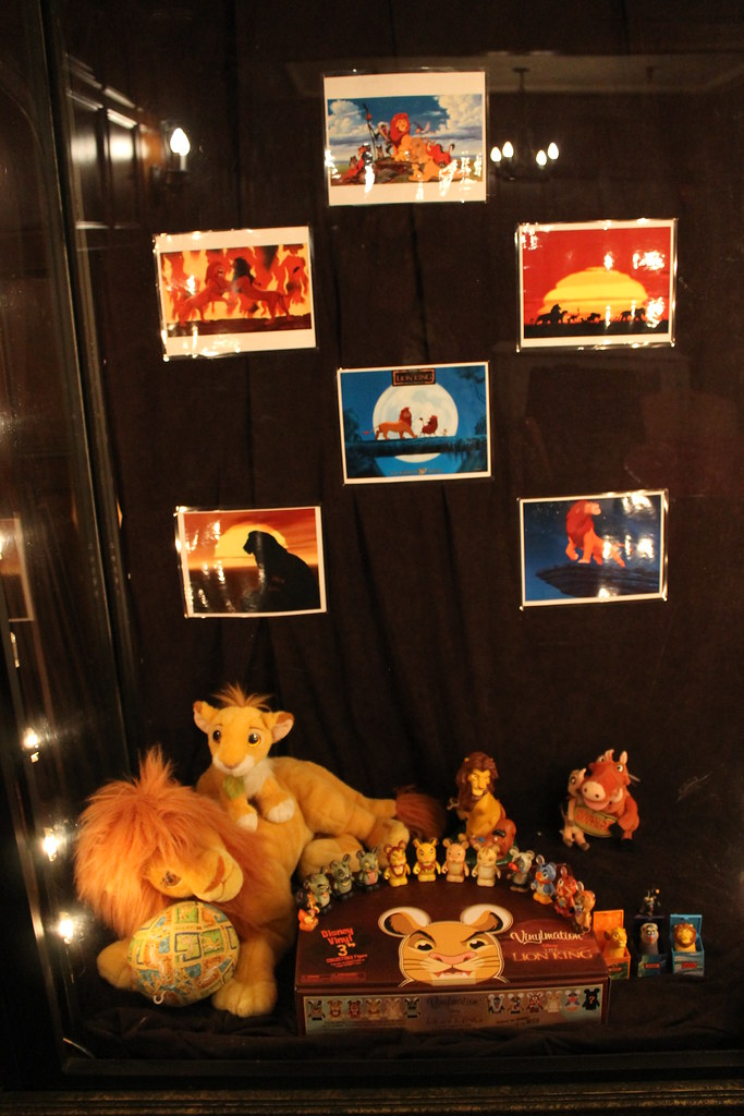 the lion king merchandise on display