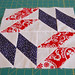 Red, White and Blue Mosaic Quilt Block