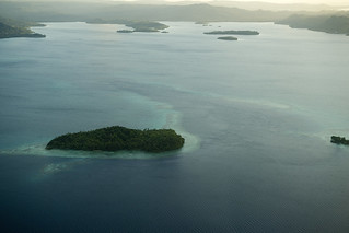 Aerial View of Marovo Lagoon, Solomon Islands | by United Nations Photo