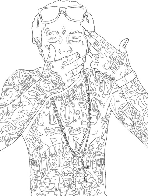 Draw Drake Coloring Pages
