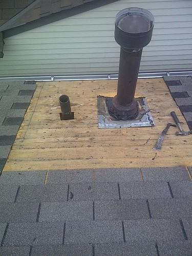 Furnace Stack And Pipe Flashing Repair Mr Roof Repair