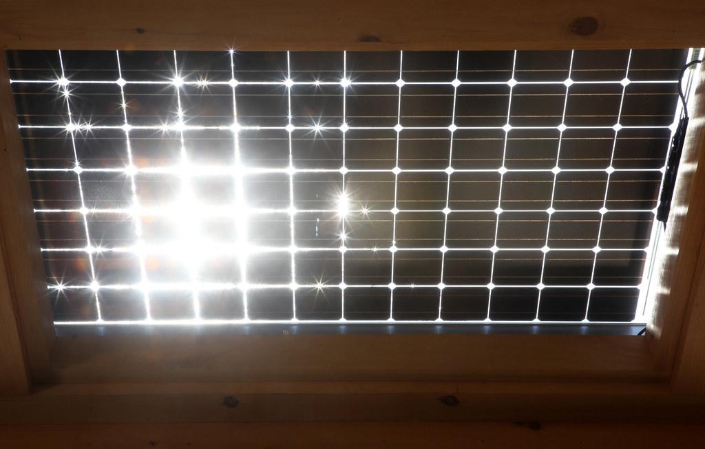 Sun Hits Solar Panels After Heavy Rain The Sun Strikes