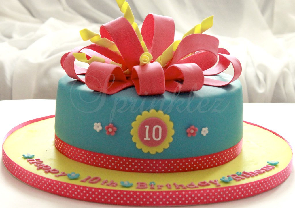 Happy 10th Birthday Riham Was Not Happy How This Cake Tu Flickr