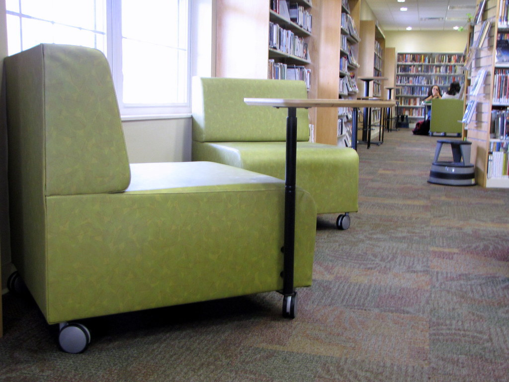 ... Comfortable Chair With Desk Arm | By Greene County Public Library