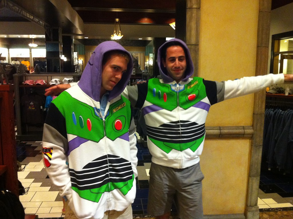 Allon and Erik rocking the buzz light year hoodie