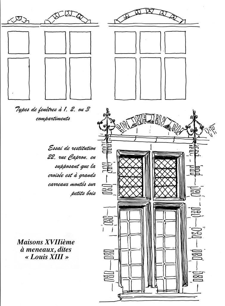 Les fen tres valenciennes maisons xviii me meneaux d for Les charlots ouvre la fenetre