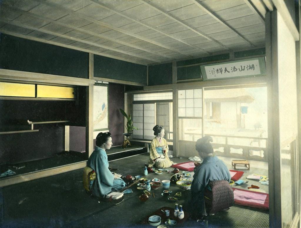 Int Rieur Japonais Anonyme Tirage Albumin Rehauss L 39 A Flickr