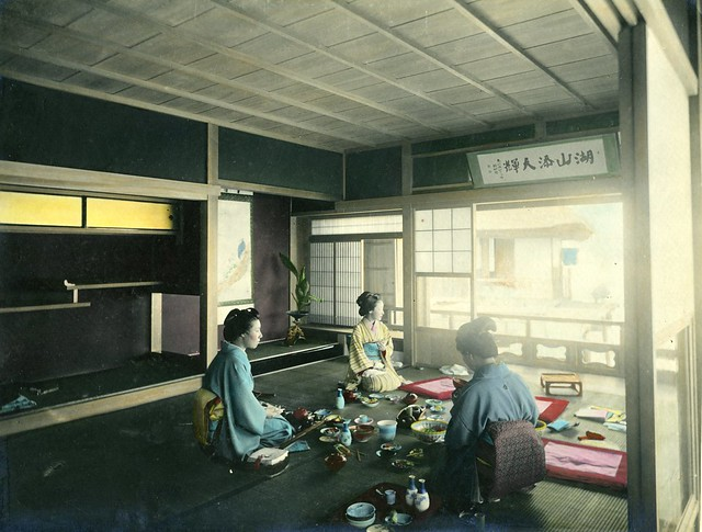 int rieur japonais anonyme tirage albumin rehauss l