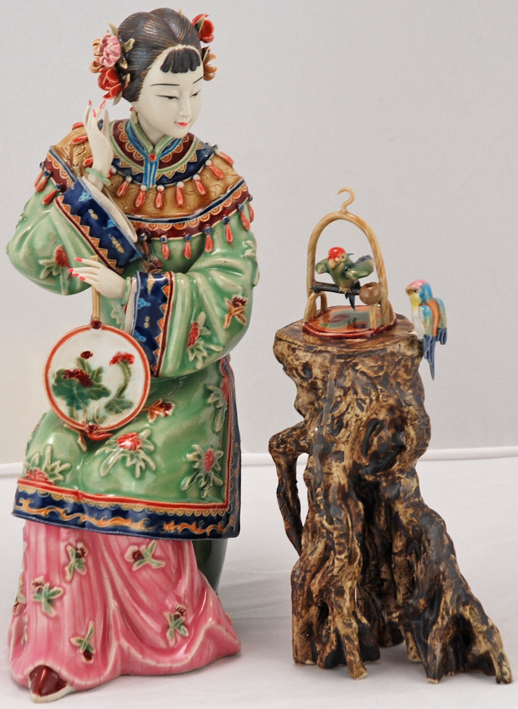 Bk0218y Chinese Porcelain Figurine Lady Porcelain Bisque
