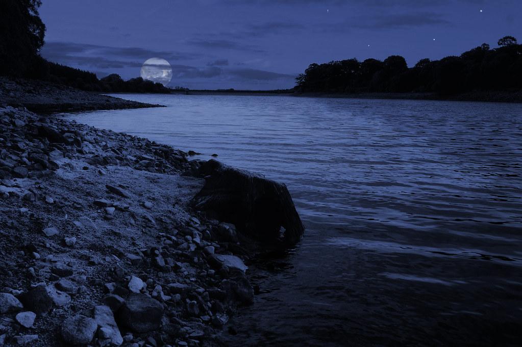 Moon River Not Wider Than A Mile Fernilee Reservoir N Flickr