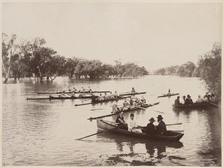 Rowing club at Wilcannia on the Darling River, New South Wales | by National Library of Australia Commons