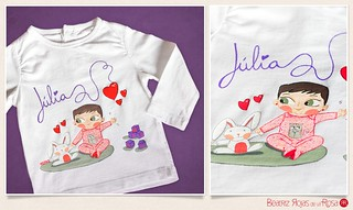 Camiseta Júlia & Conejo  // Júlia & Rabbit T-shirt | by Beatriz Rojas de la Rosa [illustration]