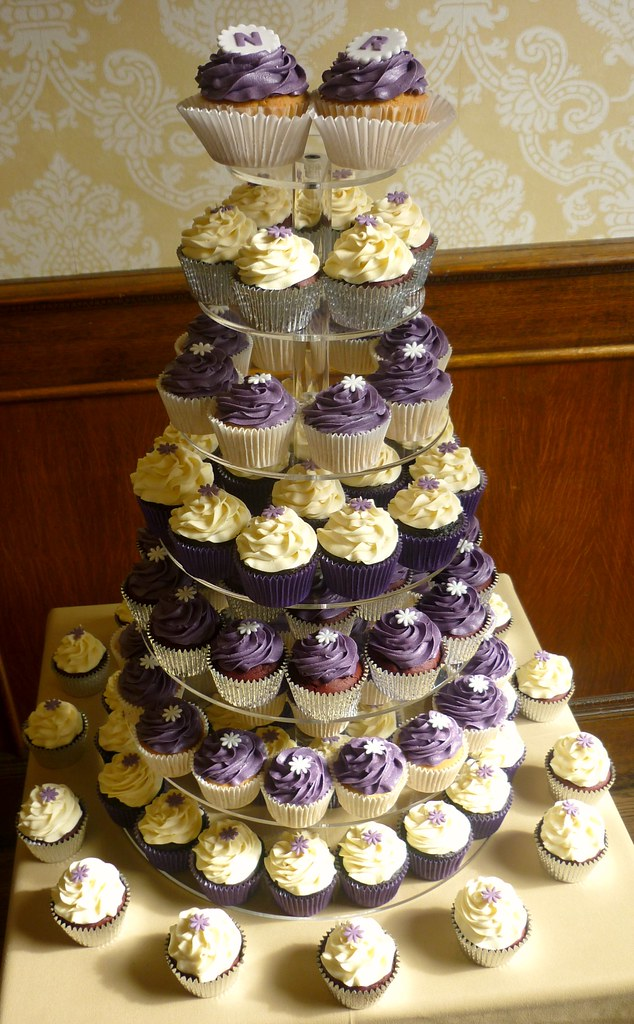 wedding cakes bakery purple themed wedding cupcake tower this was a lovely 8858