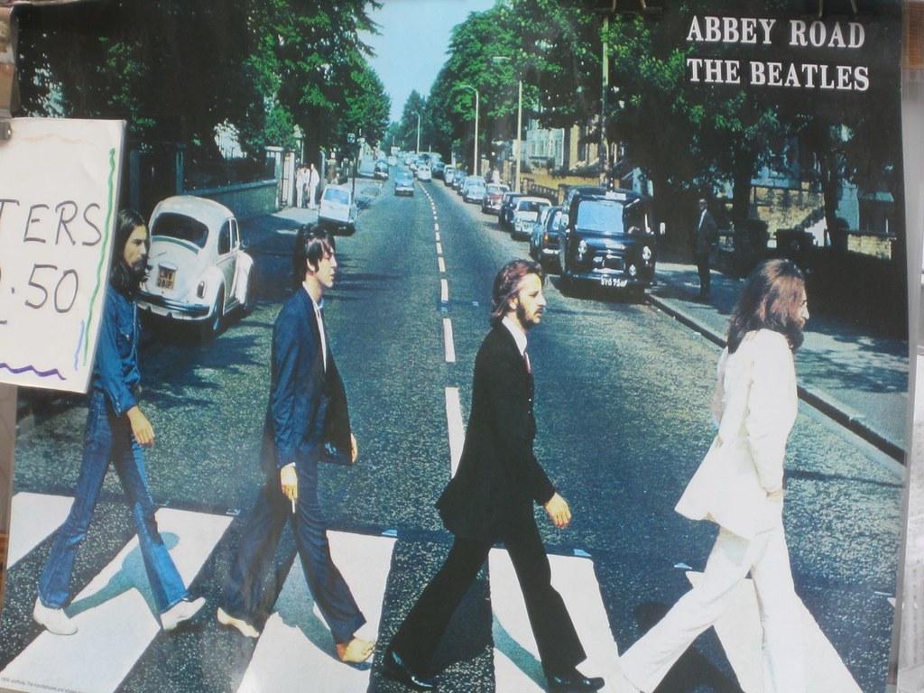 Abbey Road The Beatles Poster Portobello Market London