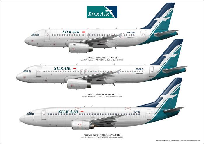 Silkair Airbus A319 A320 Boeing 737 300 Custom Aircraft Ar Flickr