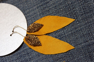 leather feather earrings | by Lorenna Buck