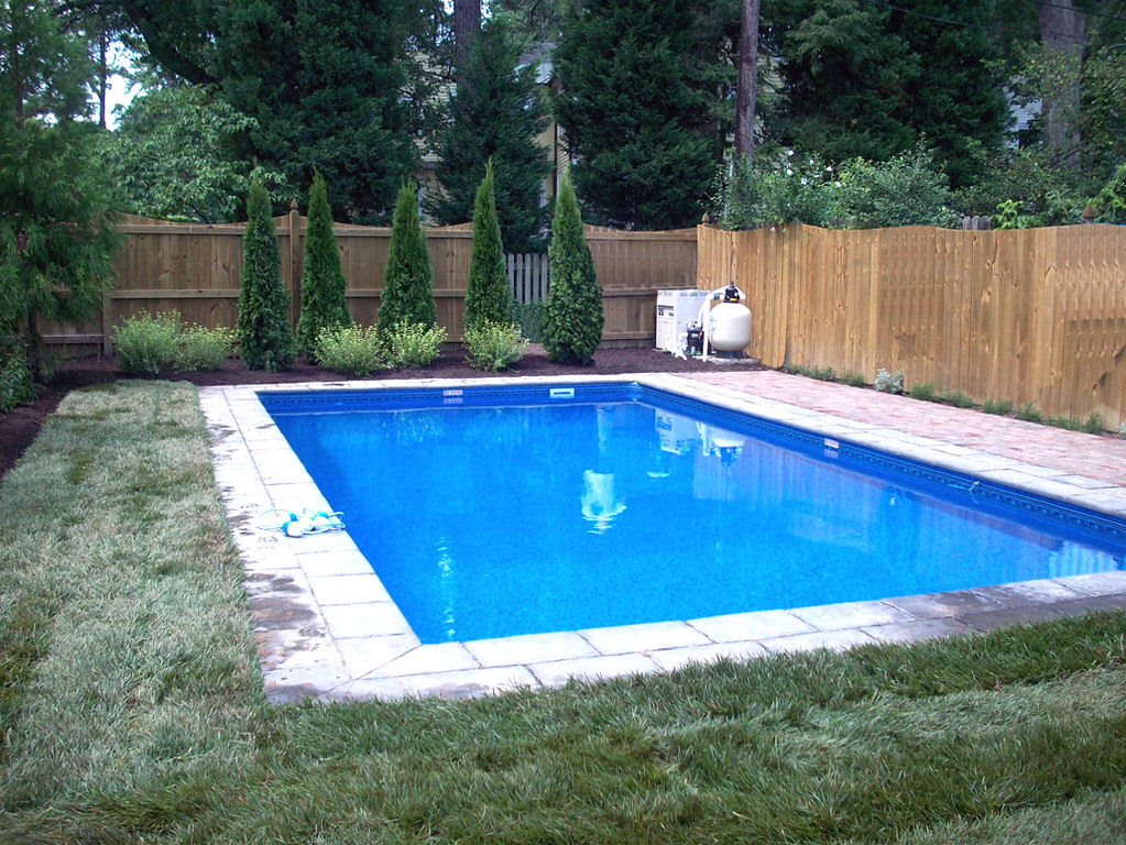 Inground Swimming Pool Rectangle 6in Radius Paver Deck 01