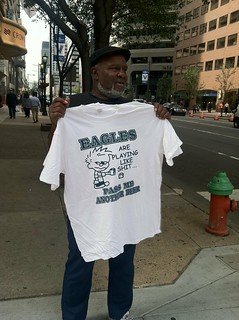 """The Eagles Are Playing Like Shit"" t-shirts 