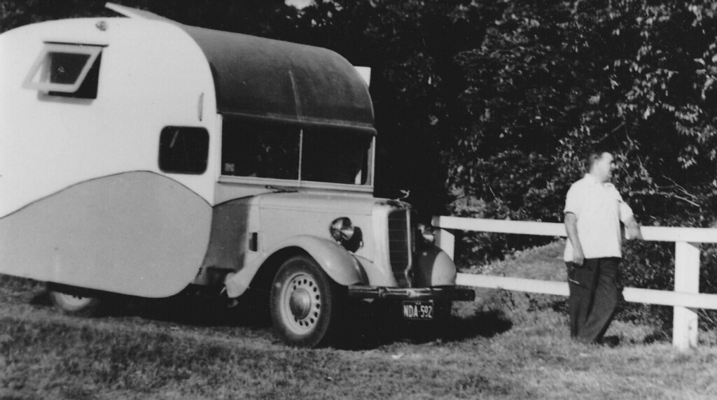 Jowett bradford fitted with a camper body in the 50s flickr
