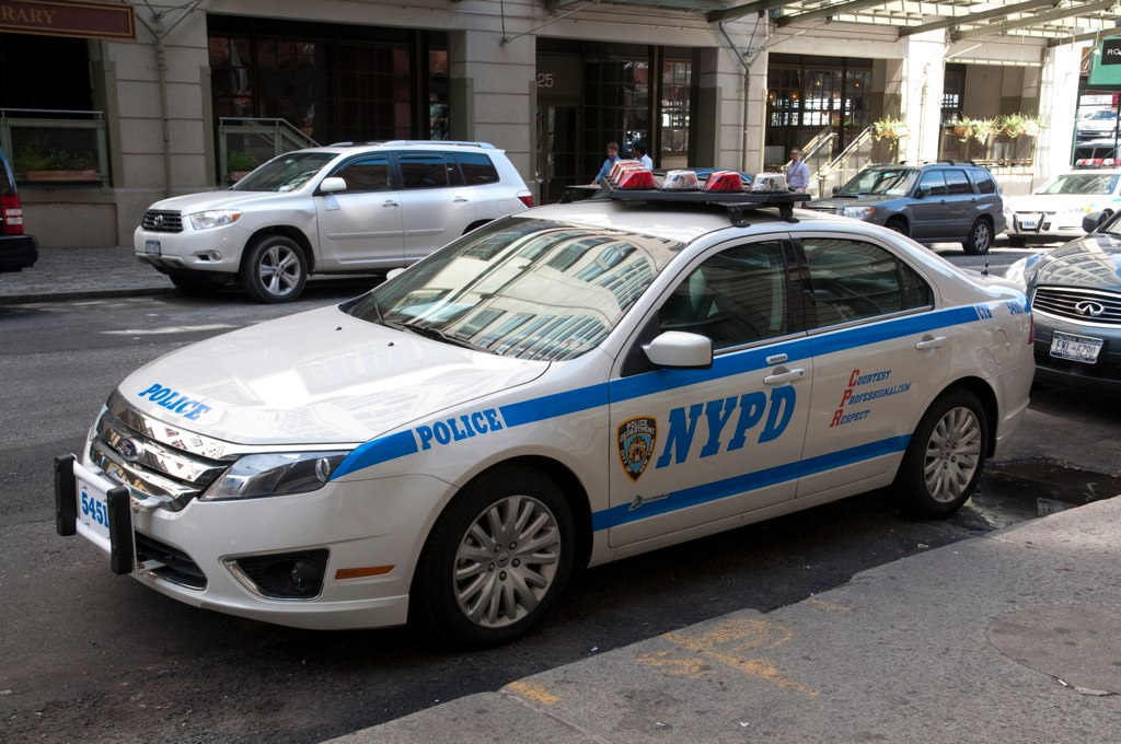 nypd ford angle a new ford fusion police car at cavala the flickr. Black Bedroom Furniture Sets. Home Design Ideas