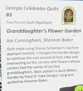 """Granddaughter's Flower Garden"" by Jan Cunningham & Shannon Baker - Info 