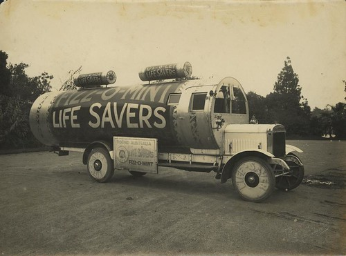 Promotional vehicle advertising Life Saver lollies | by State Library of Queensland, Australia