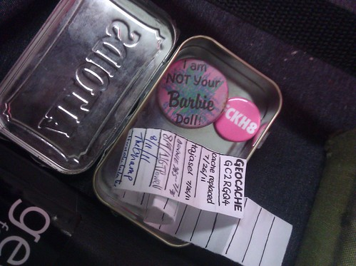 tiny geocache at Noisebridge | by Liz Henry