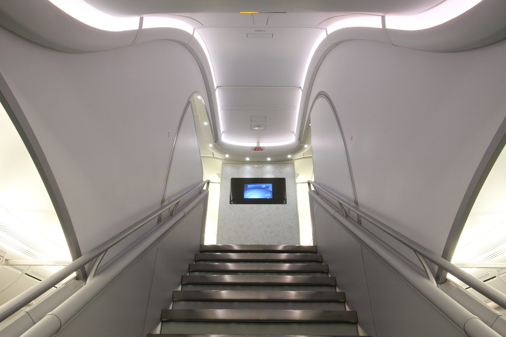 a380 forward stairs1 korean air 39 s double decker a380s feat flickr. Black Bedroom Furniture Sets. Home Design Ideas