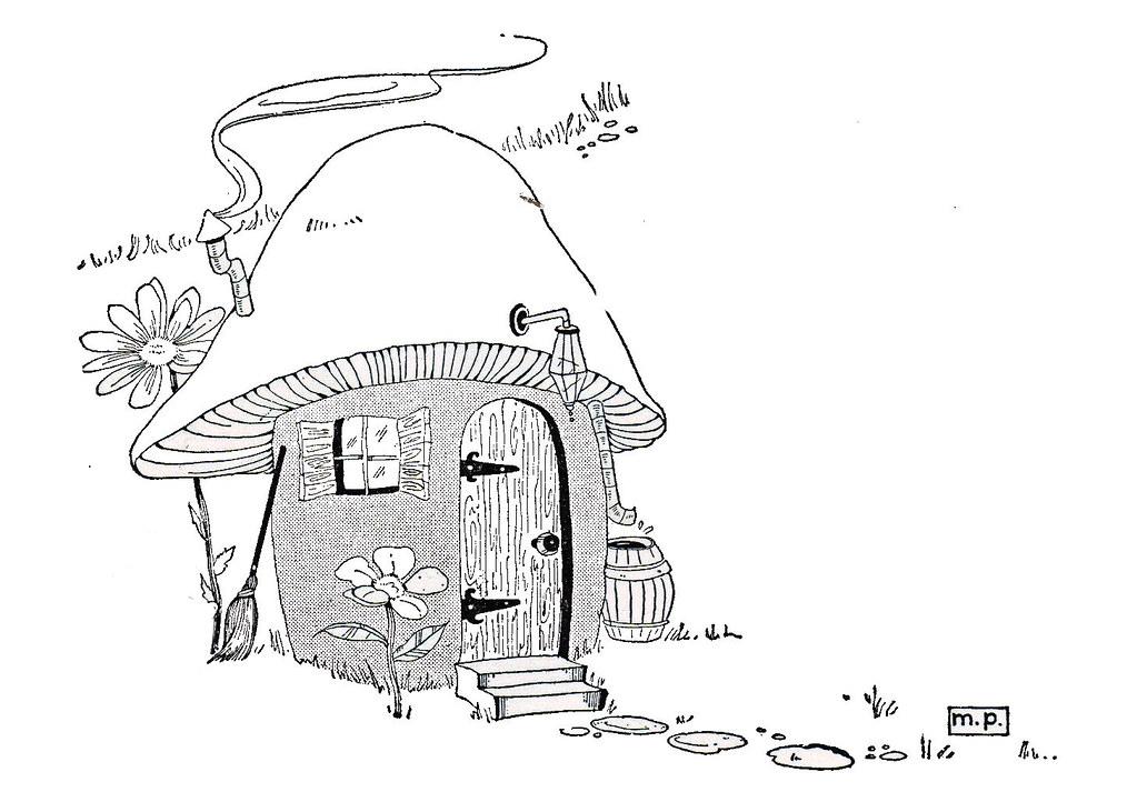 Katinthecupboard Mushroom House Illustrated By Marjorie Peters