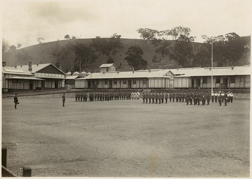 [Cadets on the parade ground, Royal Military College, Duntroon, ca. 1920] | by National Library of Australia Commons
