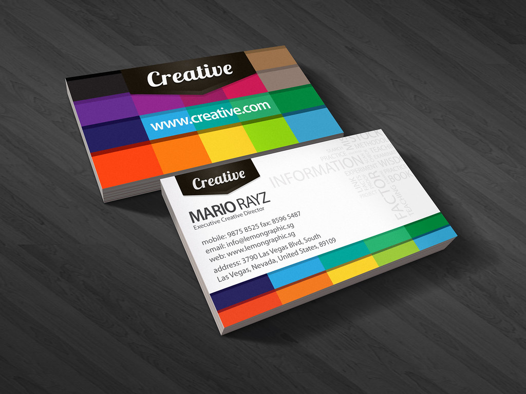Creative business card your no1creative business card to flickr creative business card by lemongraphic creative business card by lemongraphic reheart Images